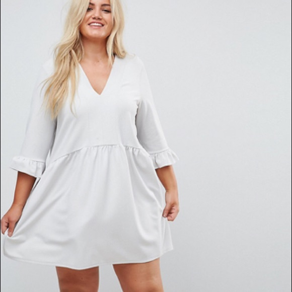 fec592231ee NWT ASOS Curve Smock Dress with Frill Cuff